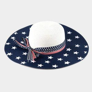 American Flag Floppy Summer Sun Hat